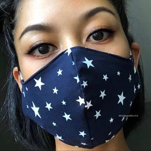 Tops - 3-Layer STARS Cotton Face Mask with Free Filter